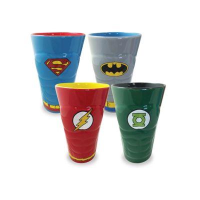ICUP™ DC Comics™ Heroes Molded Pint Glasses (Set of 4)