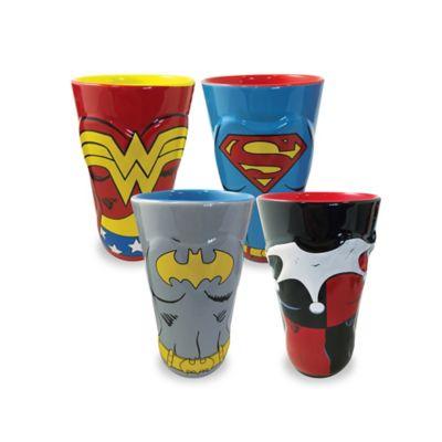 ICUP™ DC Comics™ Women of DC Molded Pint Glasses (Set of 4)