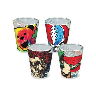 ICUP Grateful Dead Tie-Dye Icon Shot Glasses (Set of 4)