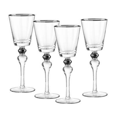 Qualia Dominion Wine Glasses in Platinum (Set of 4)