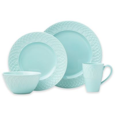 Lenox® British Colonial Carved® 4-Piece Place Setting in Aqua