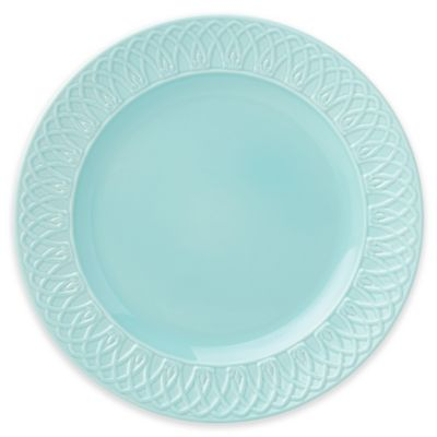 Marchesa by Lenox® British Colonial Carved® Dinner Plate in Aqua