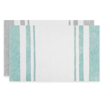 Madison Park Spa Cotton 24-Inch x 72-Inch Bath Mat in Aqua