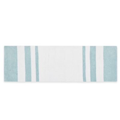 Madison Park Spa Cotton 24-Inch x 72-Inch Bath Mat in Aqua