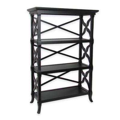 Wayborn Charter 3-Shelf Bookstand in Black