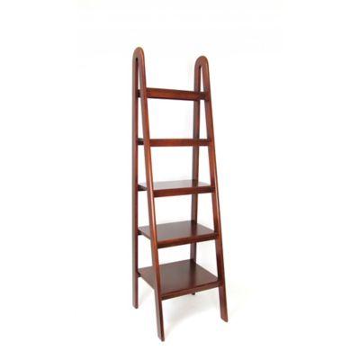 Wayborn Ladder Storage Shelf in Brown