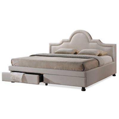 Bed King Upholstered Storage