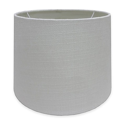 adesso paris 10 inch textured fabric drum lamp shade in white bed. Black Bedroom Furniture Sets. Home Design Ideas