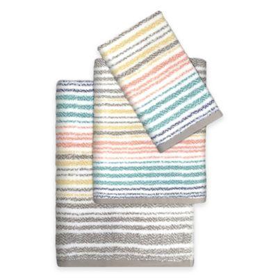 Paxton Multicolor Striped Hand Towel