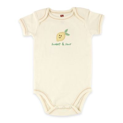"BabyVision® Touched by Nature Size 3-6M ""Sweet & Sour"" Lemon Organic Cotton Bodysuit"