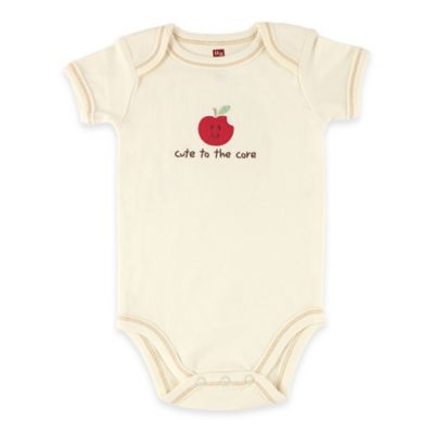 "BabyVision® Touched by Nature Size 3-6M ""Cute to the Core"" Apple Organic Cotton Bodysuit"