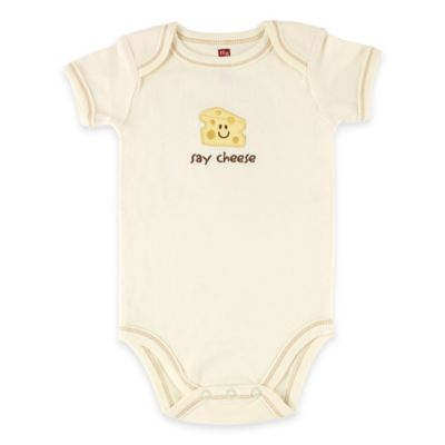 "BabyVision® Touched by Nature Size 3-6M ""Say Cheese"" Organic Cotton Bodysuit"