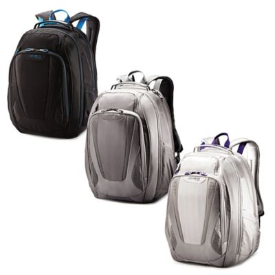 Samsonite® VizAir 2 Laptop Backpack in Silver/Purple