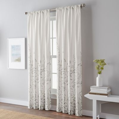 Meadow 63-Inch Rod Pocket Window Curtain Panel in Grey