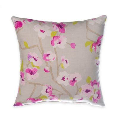 Glenna Jean Blossom Floral Print Square Throw Pillow