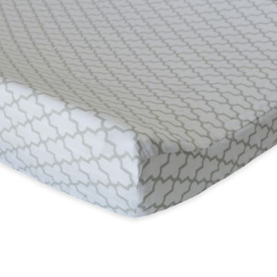 Oliver B Trellis Changing Pad Cover in Grey