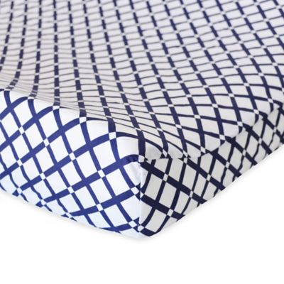 Oliver B Navy Checks Changing Pad Cover
