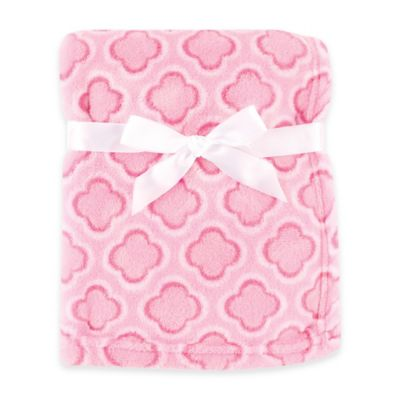 BabyVision® Luvable Friends® Clover Coral Fleece Blanket in Pink