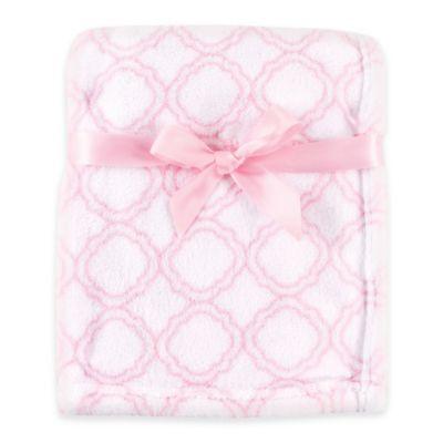 BabyVision® Luvable Friends® Lattice Coral Fleece Blanket in Pink
