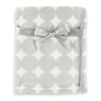 BabyVision® Luvable Friends® Dot Coral Fleece Blanket in Grey