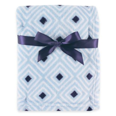 BabyVision® Luvable Friends® Diamond Coral Fleece Blanket in Blue