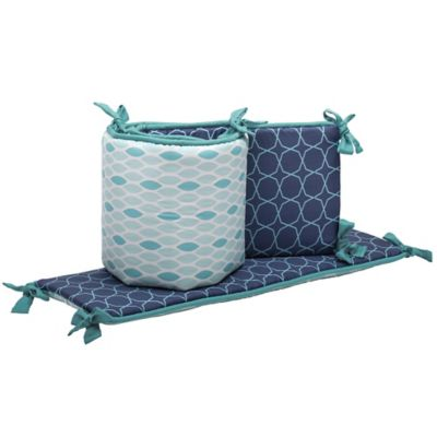 The Peanut Shell® Mosaic 4-Piece Crib Bumper