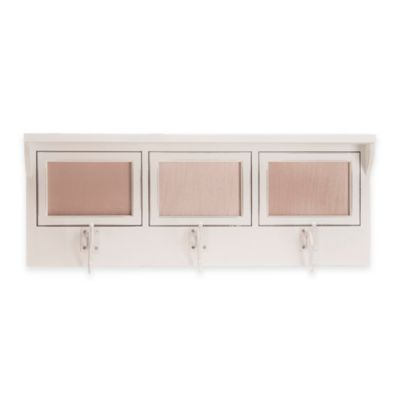Glenna Jean Anastasia 3-Opening Photo Hanger Shelf in White