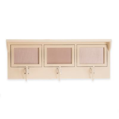 Glenna Jean Anastasia 3-Opening Photo Hanger Shelf in Cream
