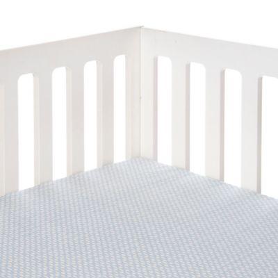 Blue Cream Crib Sheet