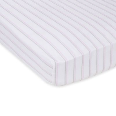 MiracleWare Pink and Grey Stripes Muslin Crib Sheet