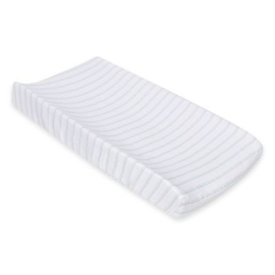 MiracleWare Blue and Grey Stripes Muslin Changing Pad Cover