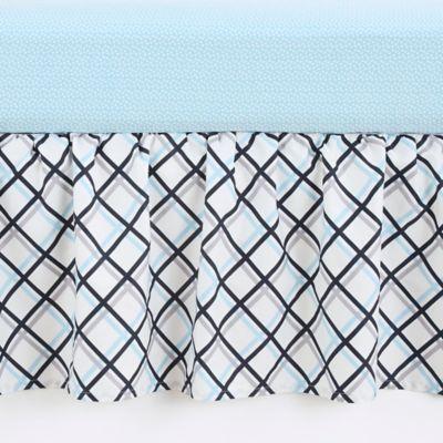 Balboa Baby® Mix & Match Crib Skirt in Navy Leaves