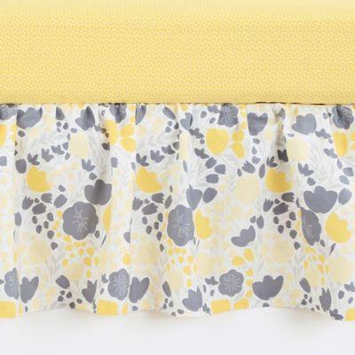 Balboa Baby® Mix & Match Crib Skirt in Yellow Tulip