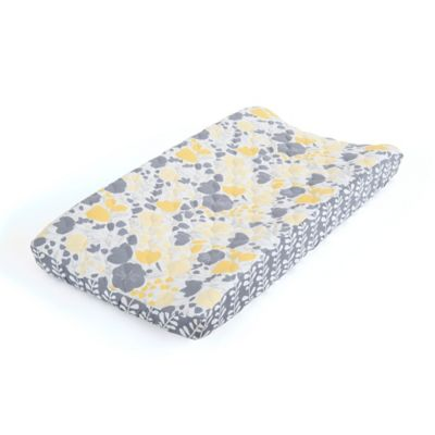 Balboa Baby® Mix & Match Quilted Changing Pad Cover in Yellow Tulip