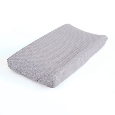 Balboa Baby® Mix & Match Quilted Changing Pad Cover in Grey/White Dot