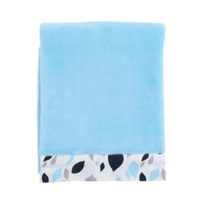 Balboa Baby® Mix & Match Simply Soft Blanket in Navy Leaves