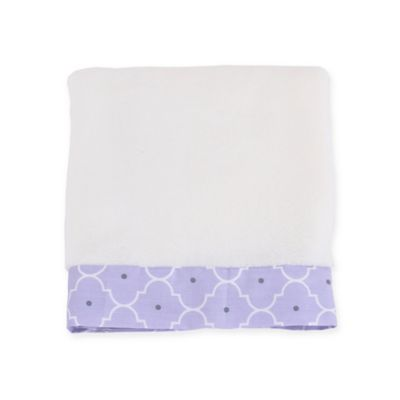 Balboa Baby® Mix & Match Simply Soft Blanket in Lavender/White