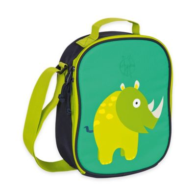 Lassig 4Kids Wildlife Collection Rhino Mini Lunch Bag in Green