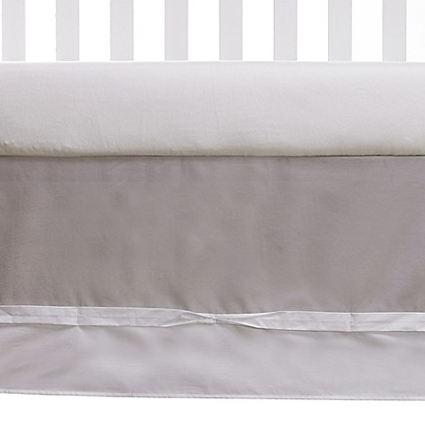 Crib Skirts > Living Textiles Baby Ribbon Crib Skirt in Grey