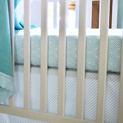 Oliver B Sea-Green Stems 2-Piece Crib Bedding Set