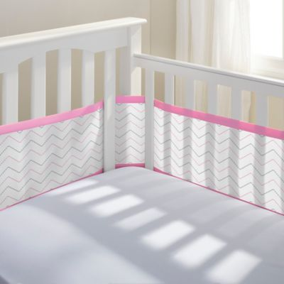 Breathable Baby Pink Crib Liner