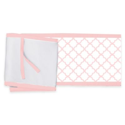BreathableBaby® Breathable Mesh Clover Crib Liner in Pink/White