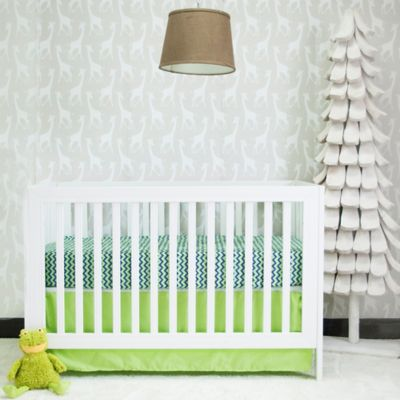 Pam Grace Creations Chevron Basics 2-Piece Reversible Quilted Mattress Pad and Crib Skirt Set