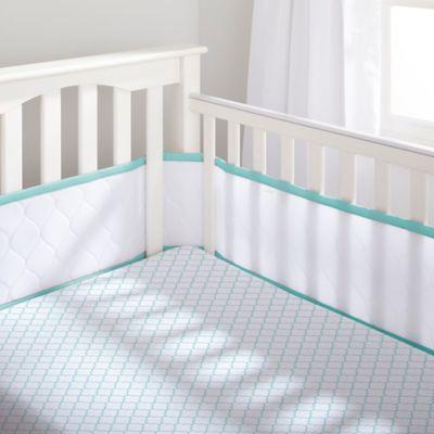 BreathableBaby® Deluxe Embossed 4-Piece Bedding Set in Seafoam