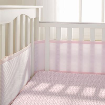 BreathableBaby® Deluxe Cable Weave 4-Piece Bedding Set in Pink