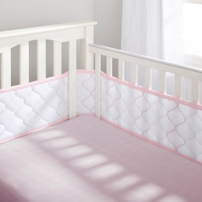 BreathableBaby® Ultra Luxe 5-Piece Bedding Set in Pink
