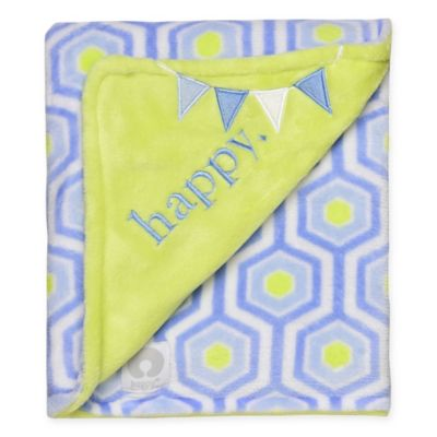 "Boppy® ""Happy"" Hexagon Plush Blanket"