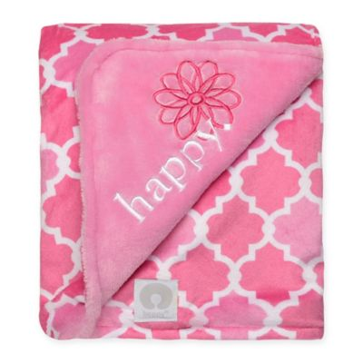 "Boppy® ""Happy"" Lattice Plush Blanket"