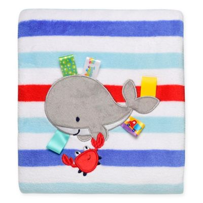 Taggies™ Whale and Crab Plush Blanket