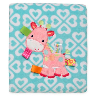 Taggies™ Giraffe Heart Print Plush Blanket